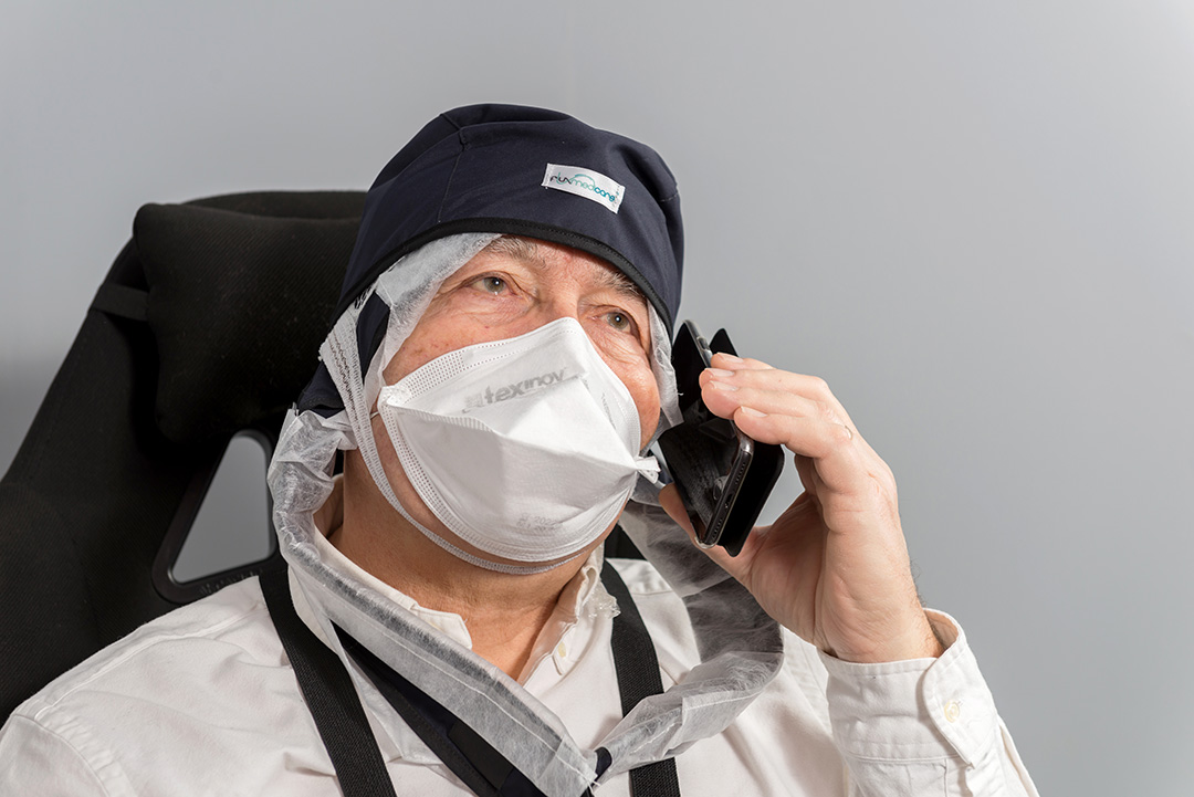 Relaxed patient during treatment